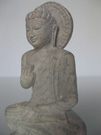 Hand carved stone Buddha statues