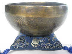 Himalayan bell metal singing bowl