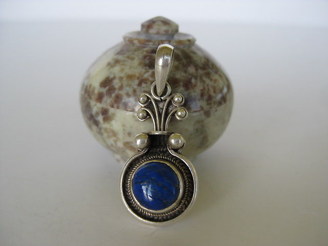 lapis lazuli sterling silver pendant beautiful unique handmade gifts with gemstone