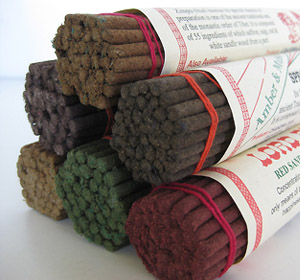 Fresh natural herbal Tibetan incense sticks