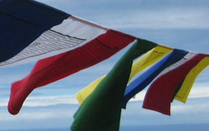 Tibetan prayer flags handmade in Kathmandu Nepal